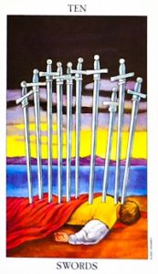 Ten of Swords - Tarot Card