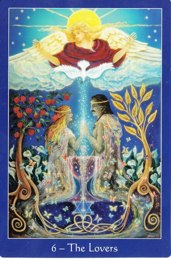 Image showing The Lovers Tarot Card
