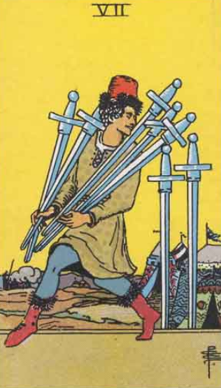 Image showing Seven of Swords in Future Reading in Love, Relationship, Marriage