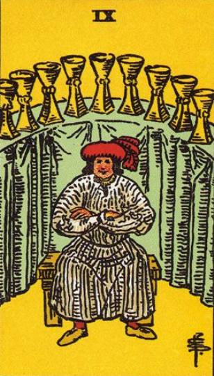 Image Showing Nine of Cups in relationship card