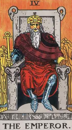 Image showing The Emperor in Guidance form in Love Relationship Reading