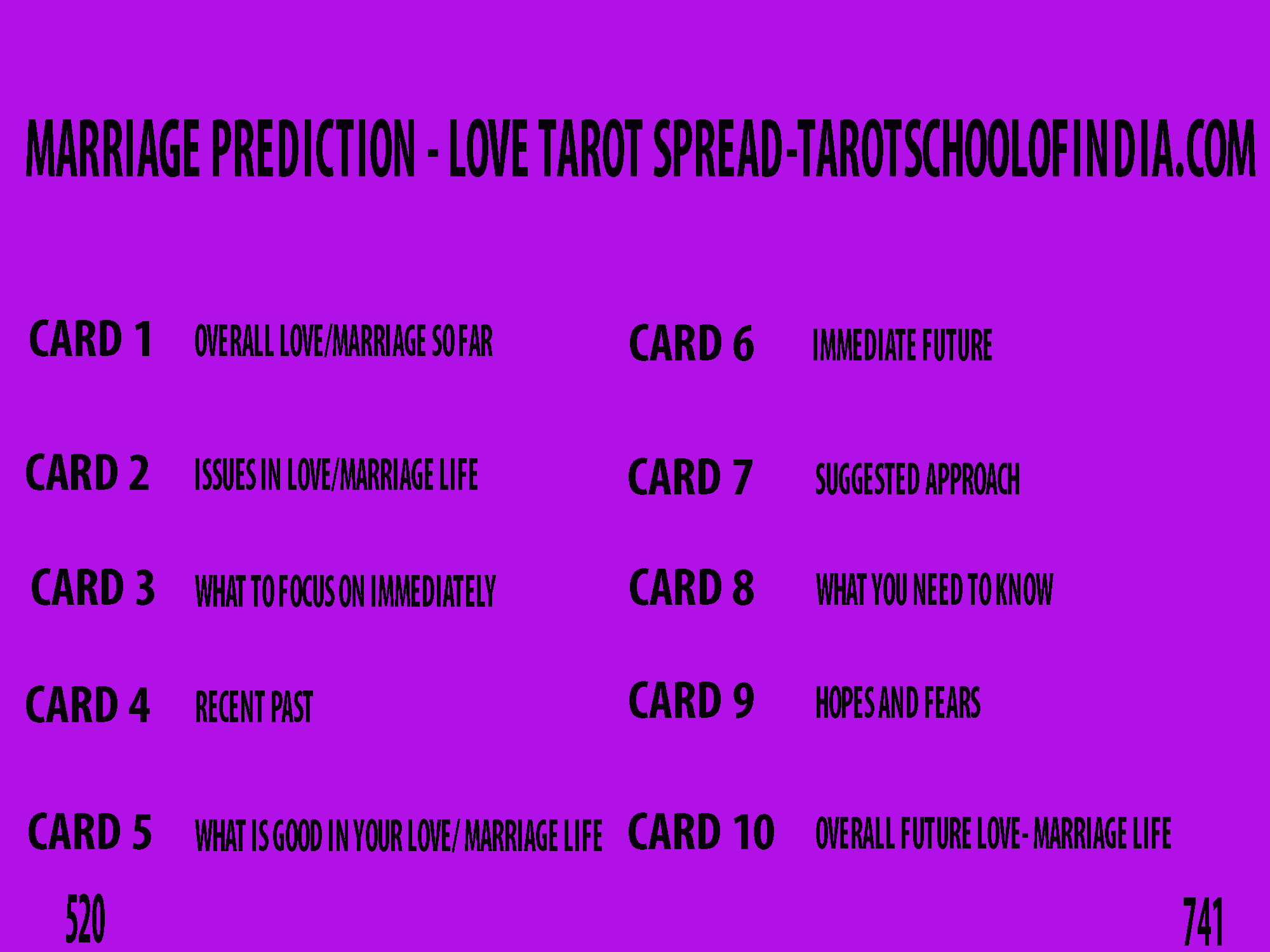 Image Showing Love Tarot Spread - Marriage Prediction