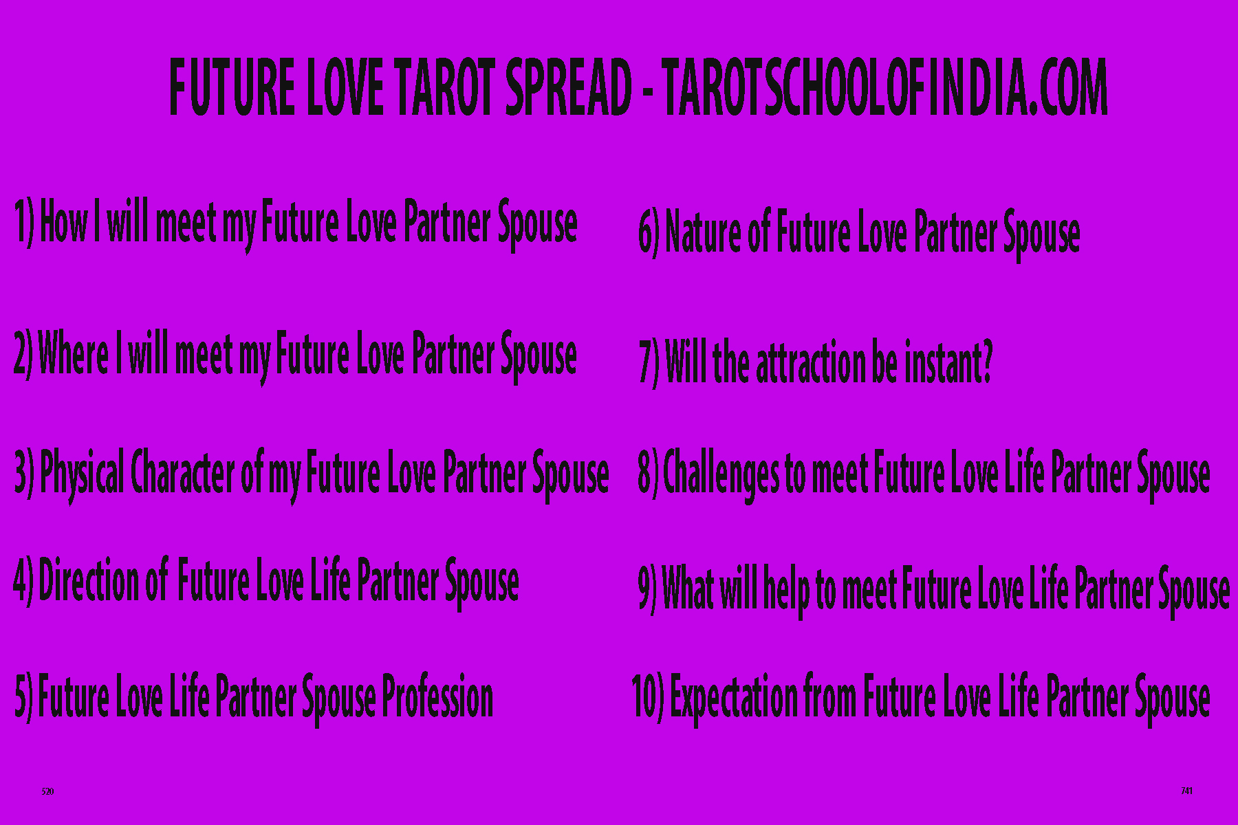 Image Showing Future Love Tarot Spread